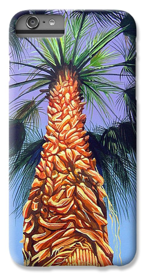 Palm Tree In Palm Springs California IPhone 6s Plus Case featuring the painting Holding Onto The Earth by Hunter Jay