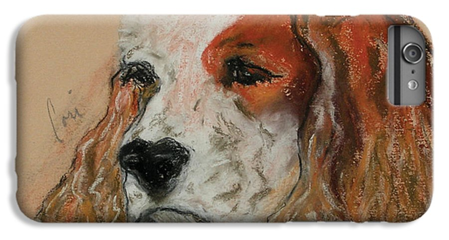 Dog IPhone 6s Plus Case featuring the pastel Idle Thoughts by Cori Solomon