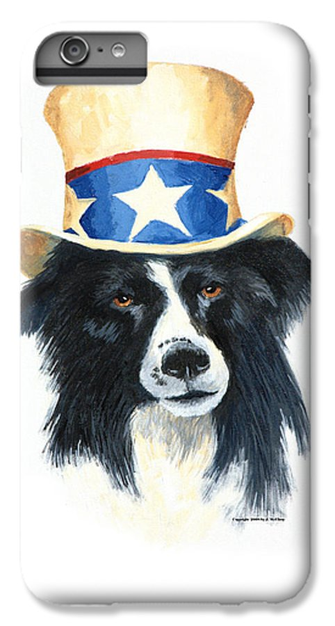 Dog IPhone 6s Plus Case featuring the painting In Dog We Trust by Jerry McElroy