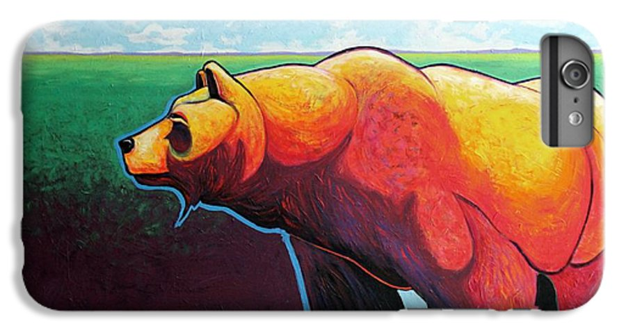 Grizzly Bear IPhone 6s Plus Case featuring the painting In His Prime by Joe Triano