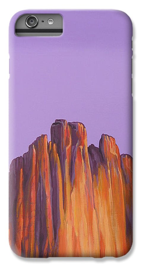 Landscape IPhone 6s Plus Case featuring the painting Inscription Rock by Hunter Jay