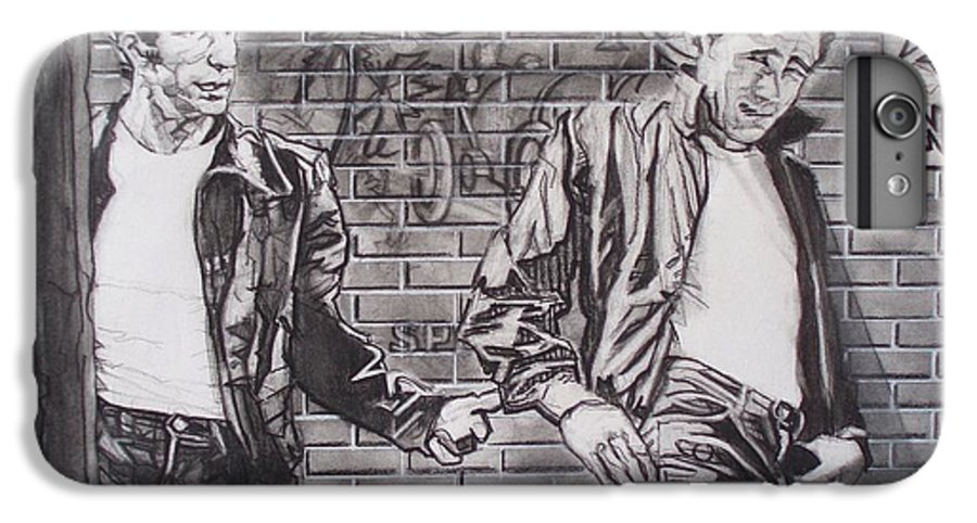 Americana IPhone 6s Plus Case featuring the drawing James Dean Meets The Fonz by Sean Connolly