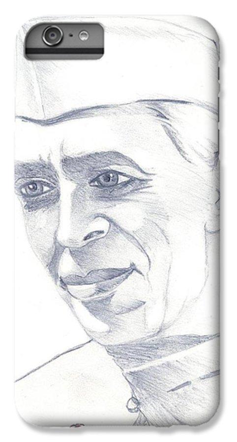 Jawaharl Lal Nehru Photos IPhone 6s Plus Case featuring the painting Jawaharlal Nehru by Tanmay Singh