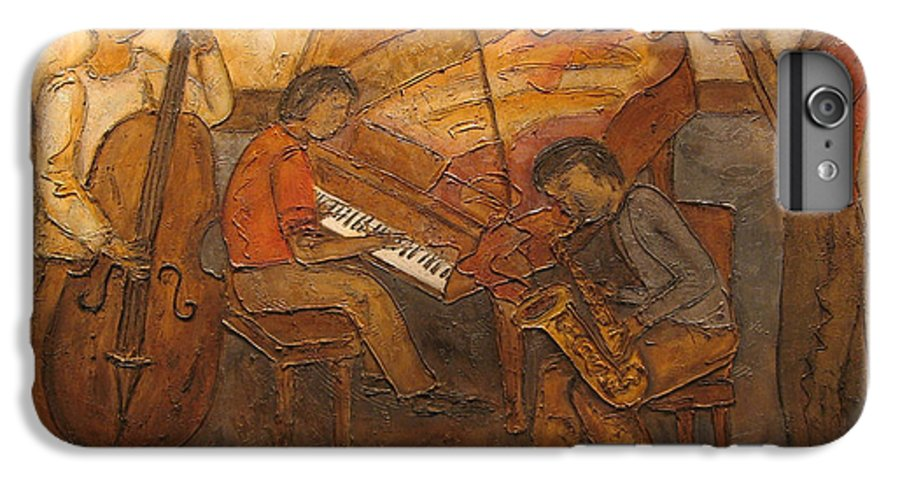 Impressionist IPhone 6s Plus Case featuring the painting Jazz Quartet by Anita Burgermeister