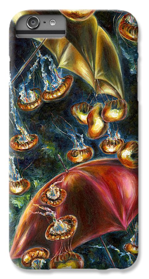 Jellyfish IPhone 6s Plus Case featuring the painting Jellyfishy Evening by Hiroko Sakai