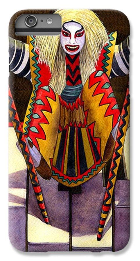 Kabuki IPhone 6s Plus Case featuring the painting Kabuki Chopsticks 1 by Catherine G McElroy