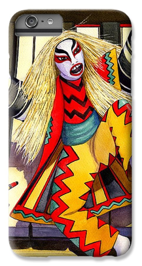 Kabuki IPhone 6s Plus Case featuring the painting Kabuki Chopsticks 3 by Catherine G McElroy
