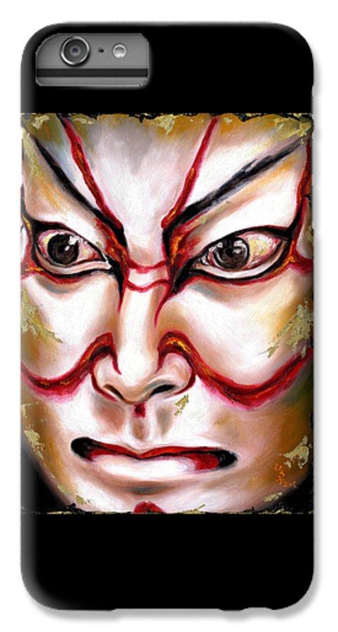 Kabuki IPhone 6s Plus Case featuring the painting Kabuki One by Hiroko Sakai