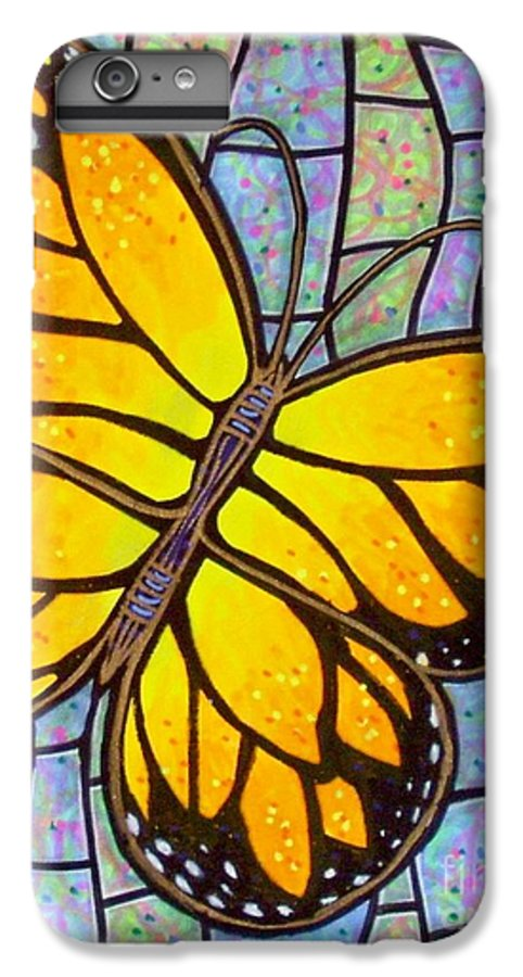 Butterflies IPhone 6s Plus Case featuring the painting Karens Butterfly by Jim Harris