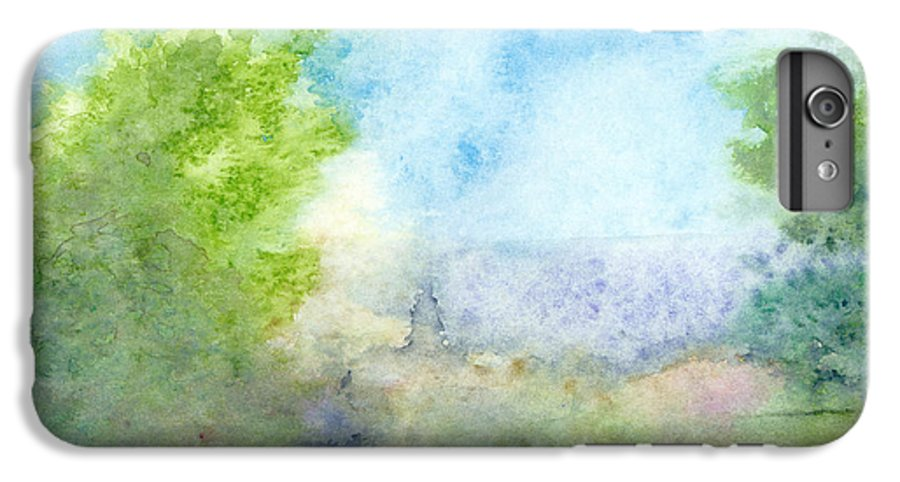 Landscape IPhone 6s Plus Case featuring the painting Landscape 4 by Christina Rahm Galanis