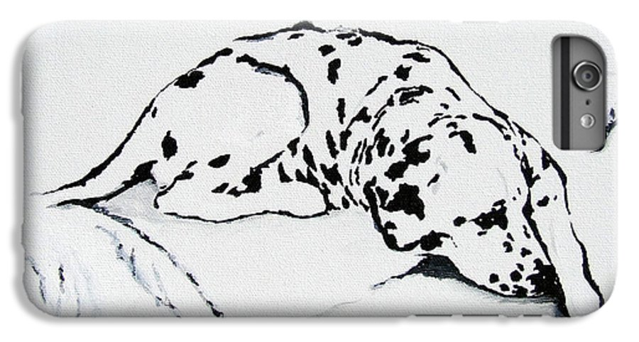 Dogs IPhone 6s Plus Case featuring the painting Lazy Day by Jacki McGovern