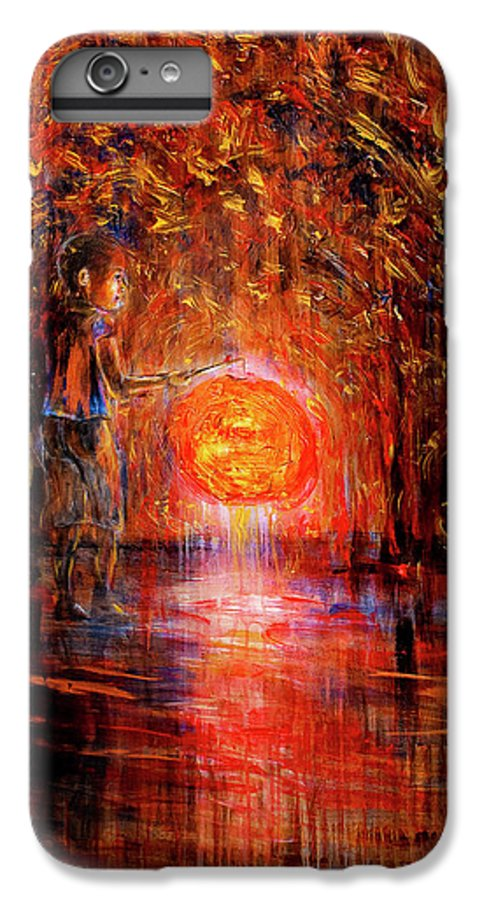 Lantern IPhone 6s Plus Case featuring the painting Light by Nik Helbig