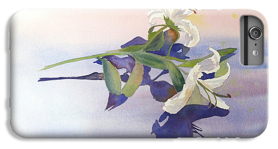 Lily IPhone 6s Plus Case featuring the painting Lilies At Rest by Patricia Novack