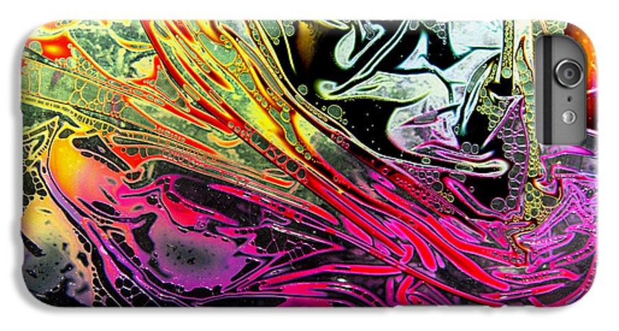 Surrealism IPhone 6s Plus Case featuring the digital art Liquid Decalcomaniac Desires 1 by Otto Rapp
