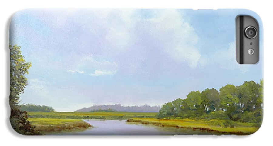 St. Simons IPhone 6s Plus Case featuring the painting Lowcountry Afternoon by Glenn Secrest