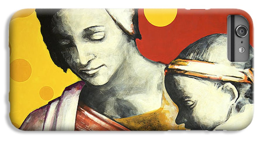 Figurative IPhone 6s Plus Case featuring the painting Madona by Jean Pierre Rousselet