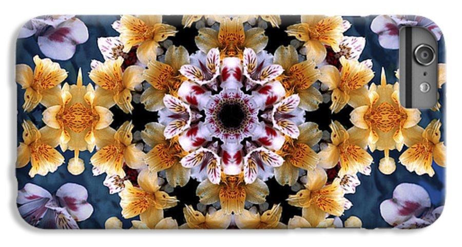 Mandala IPhone 6s Plus Case featuring the digital art Mandala Alstro by Nancy Griswold