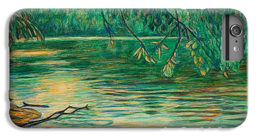 Landscape IPhone 6s Plus Case featuring the painting Mid-spring On The New River by Kendall Kessler