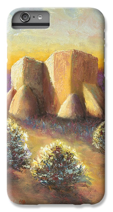Landscape IPhone 6s Plus Case featuring the painting Mission Imagined by Jerry McElroy