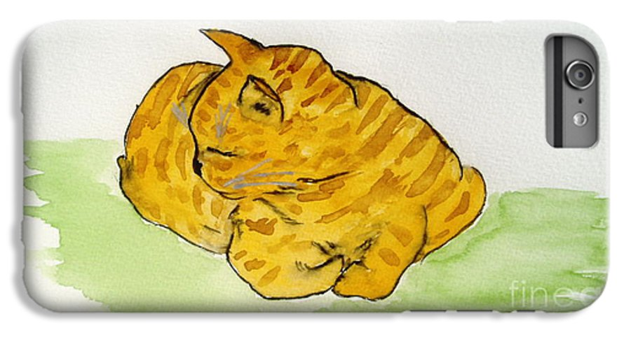Cat Painting IPhone 6s Plus Case featuring the painting Mr. Yellow by Reina Resto