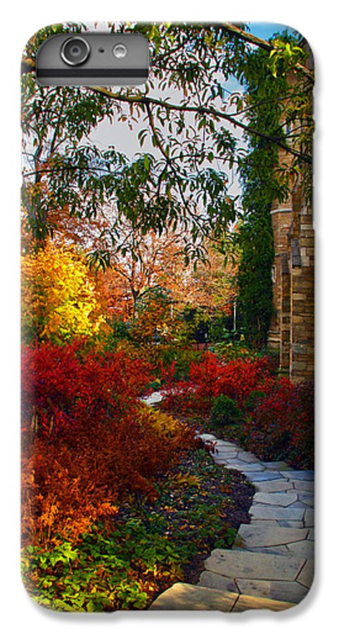 National Cathedral IPhone 6s Plus Case featuring the photograph National Cathedral Path by Mitch Cat