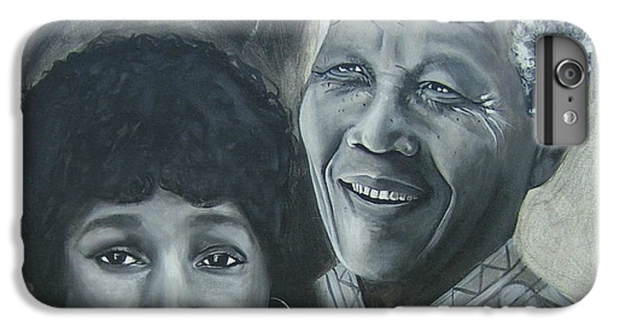 From Black & White Series IPhone 6s Plus Case featuring the painting Nelson And Winnie by Howard Stroman