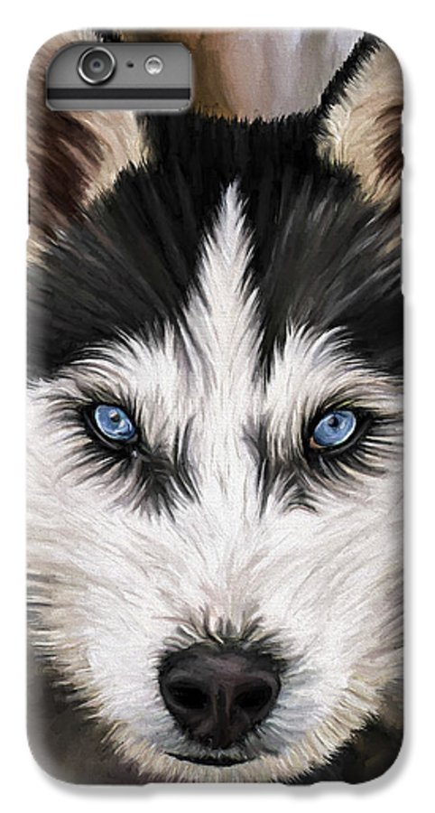 Dog Art IPhone 6s Plus Case featuring the painting Nikki by David Wagner