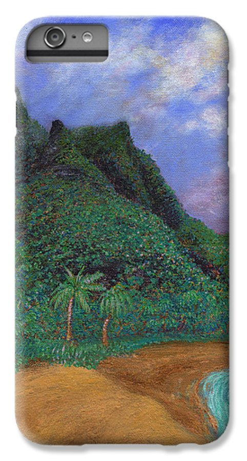 Coastal Decor IPhone 6s Plus Case featuring the painting On The North Shore by Kenneth Grzesik