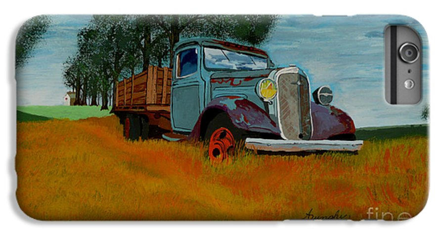 Truck IPhone 6s Plus Case featuring the painting Out To Pasture by Anthony Dunphy