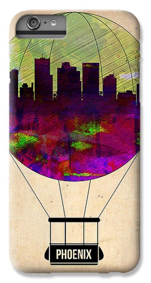Phoenix IPhone 6s Plus Case featuring the painting Phoenix Air Balloon by Naxart Studio