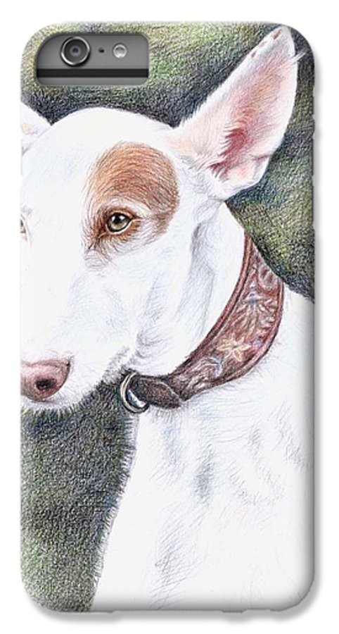 Dog IPhone 6s Plus Case featuring the drawing Podenco Ibicenco by Nicole Zeug