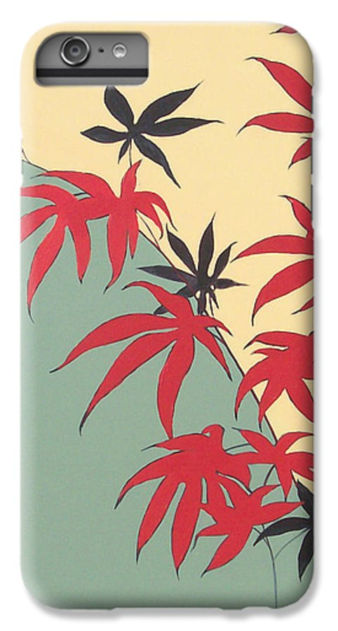 Bamboo IPhone 6s Plus Case featuring the painting Psycho Wabbits by Philip Fleischer