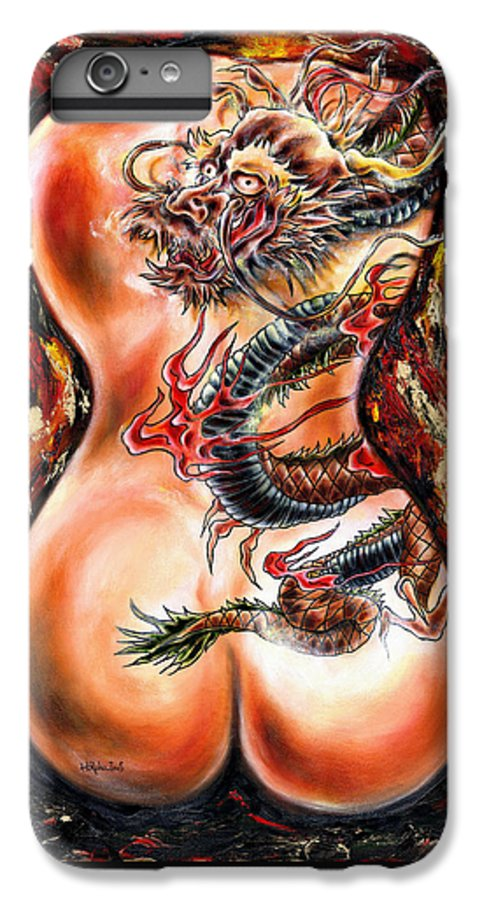 Nude IPhone 6s Plus Case featuring the painting Queer Fruit by Hiroko Sakai
