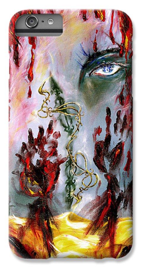Rain IPhone 6s Plus Case featuring the painting Rain by Hiroko Sakai