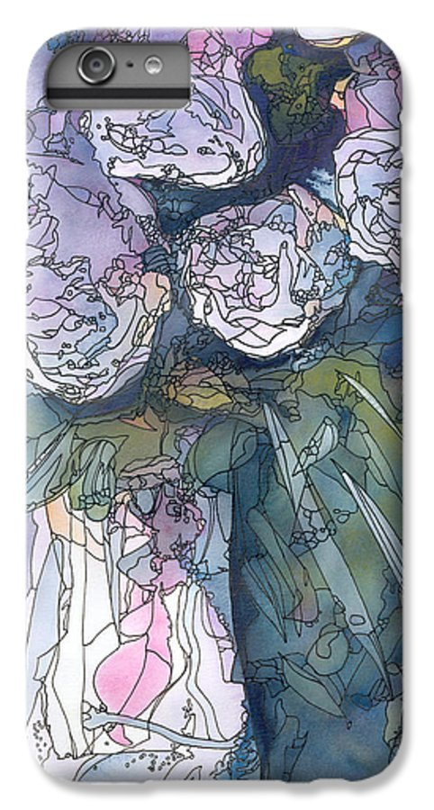 Roses IPhone 6s Plus Case featuring the painting Roses In A Vase by Christina Rahm Galanis