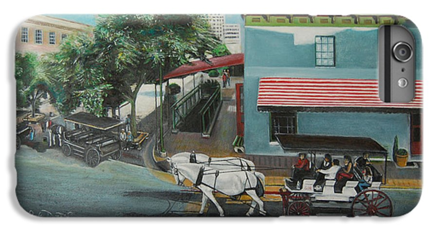 IPhone 6s Plus Case featuring the painting Savannah City Market by Jude Darrien