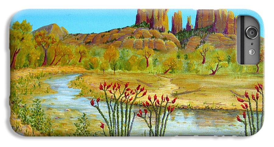 Sedona IPhone 6s Plus Case featuring the painting Sedona Arizona by Jerome Stumphauzer