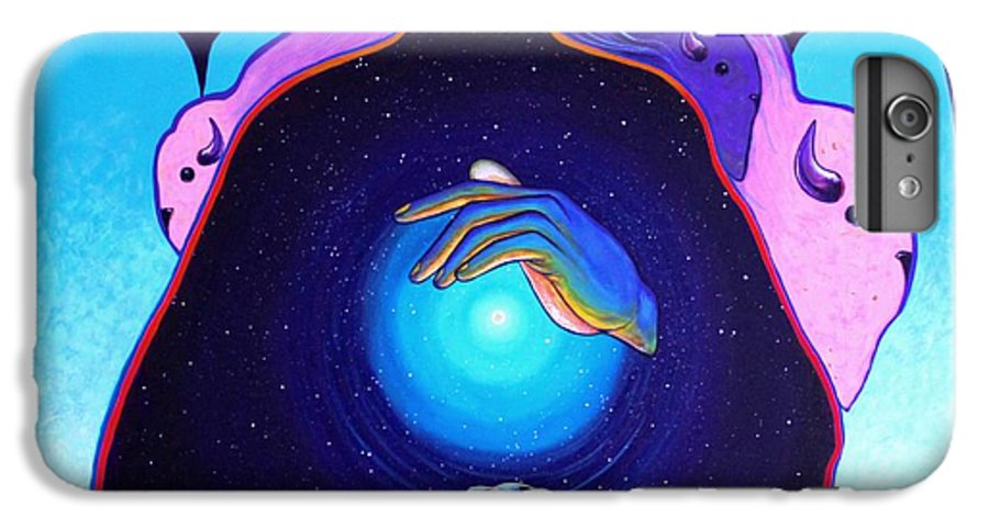 Spiritual IPhone 6s Plus Case featuring the painting She Carries The Spirit by Joe Triano