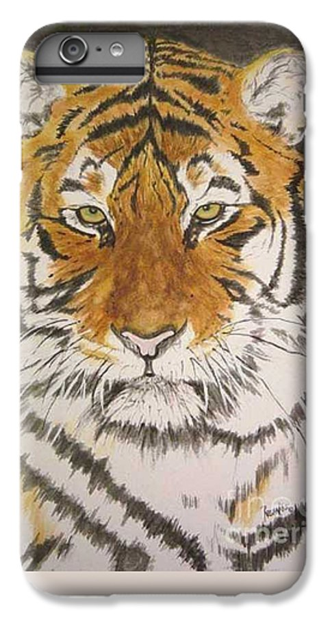 Siberian Tiger IPhone 6s Plus Case featuring the painting Siberian Tiger by Regan J Smith