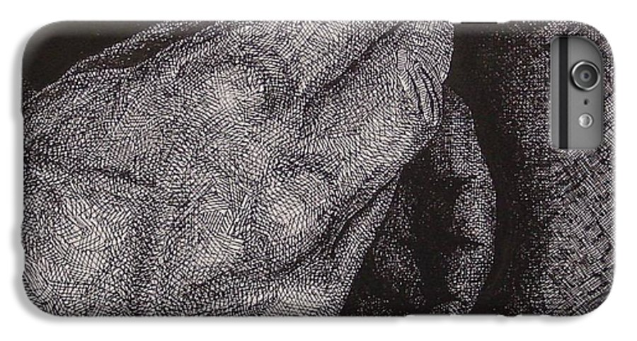 Figurative IPhone 6s Plus Case featuring the drawing Smoke Number 2 by Denis Gloudeman