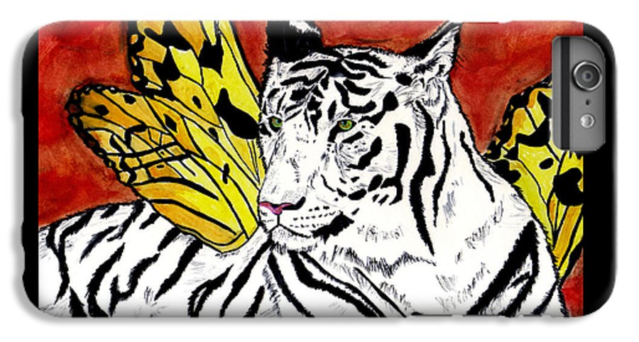 Tiger IPhone 6s Plus Case featuring the painting Soul Rhapsody by Crystal Hubbard
