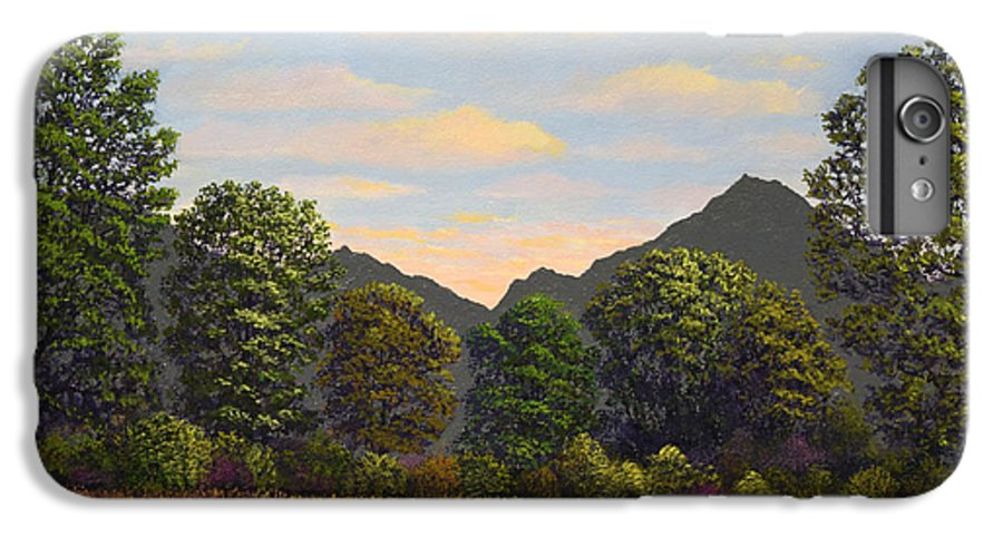 Spring Meadow At Sutter Buttes IPhone 6s Plus Case featuring the painting Spring Meadow At Sutter Buttes by Frank Wilson