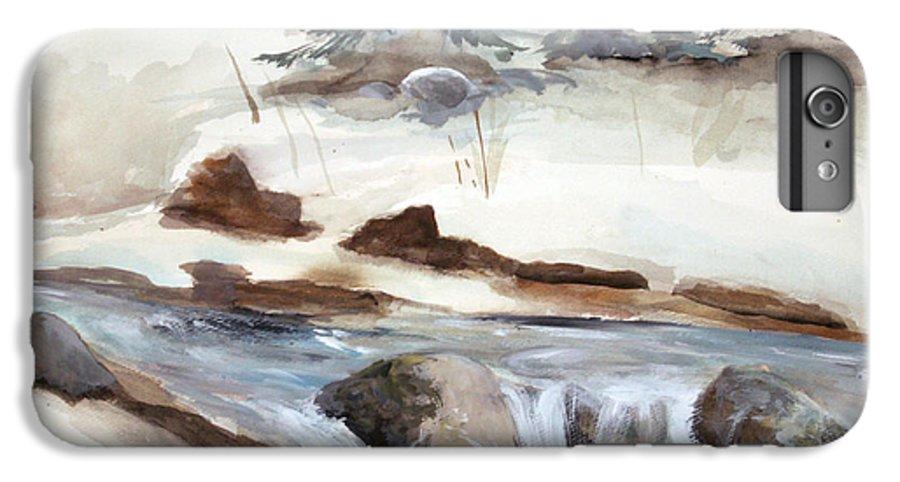 Rick Huotari IPhone 6s Plus Case featuring the painting Springtime by Rick Huotari