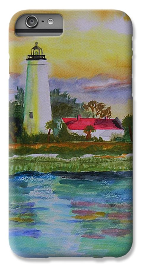 Landscape IPhone 6s Plus Case featuring the painting St. Marks Lighthouse-2 by Warren Thompson