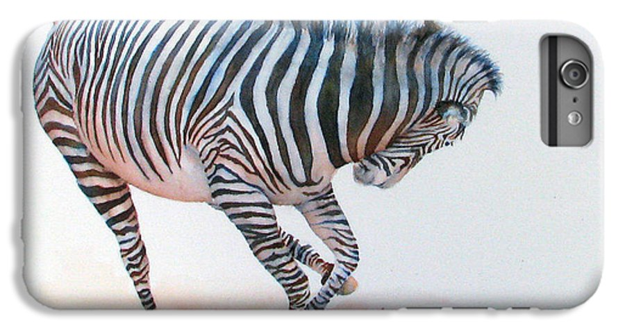 Zebra IPhone 6s Plus Case featuring the painting Stripes IIi by Patricia Henderson