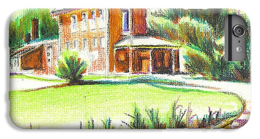 Summertime At Ursuline No C101 IPhone 6s Plus Case featuring the painting Summertime At Ursuline No C101 by Kip DeVore