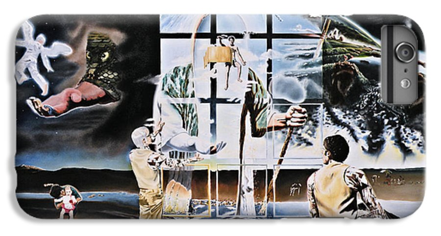 Surreal IPhone 6s Plus Case featuring the painting Surreal Windows Of Allegory by Dave Martsolf