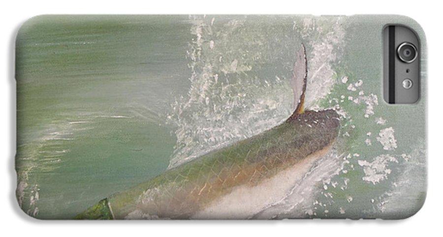 Tarpon Breaking Water IPhone 6s Plus Case featuring the painting Tarpon Breaking Water by Tony Rodriguez