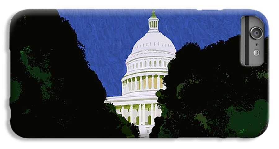Capitol IPhone 6s Plus Case featuring the painting The Capitol by Pharris Art
