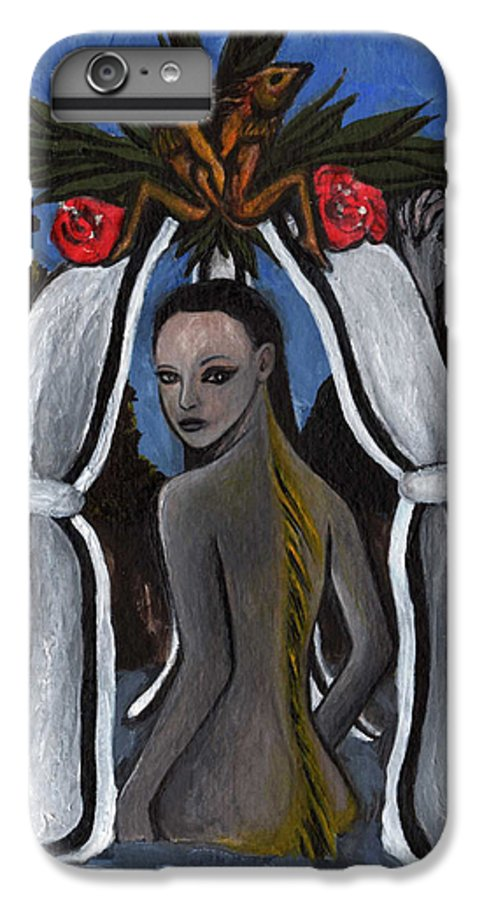Mermaid IPhone 6s Plus Case featuring the painting The Fable Of The Fish by Ayka Yasis